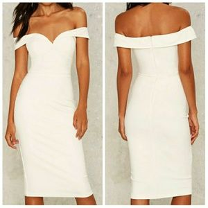 NASTY GAL Macy Off-the-Shoulder Dress